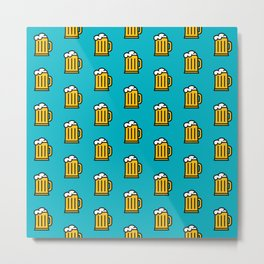 Beer Pattern - Icon Prints: Drinks Series Metal Print
