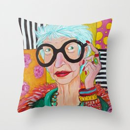 Amazing Iris Throw Pillow