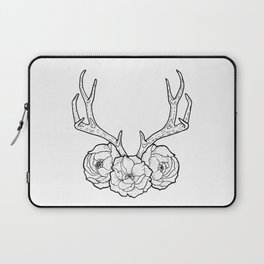 Deer vs Flowers Laptop Sleeve