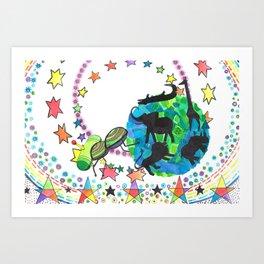Earth Beetle Art Print