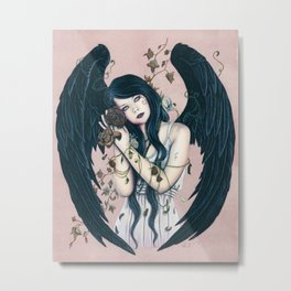 Wither Gothic Angel Of Decay Metal Print