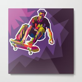 color your skate Metal Print