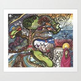 Resurrection Tree Art Print