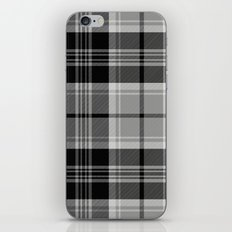 Black & White Tartan (var. 2)  iPhone & iPod Skin