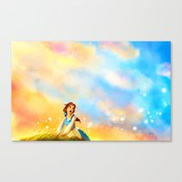 alicexz Canvas Prints featuring This Provincial Life by Alice X. Zhang