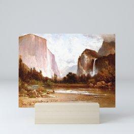 Piute Indians Fishing In Yosemite 1900 By Thomas Hill | Reproduction Mini Art Print