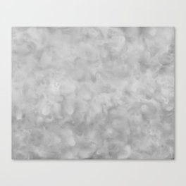 Soft Gray Clouds Texture Canvas Print
