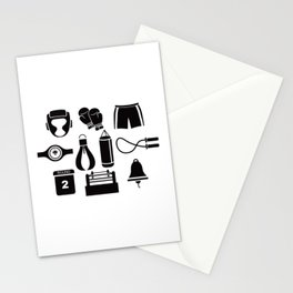 All The Things You Need To Become A Great Boxer Stationery Cards