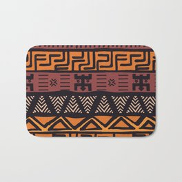 Tribal ethnic geometric pattern 021 Bath Mat