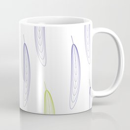 Large Feathers - Purple & Green #993 Coffee Mug