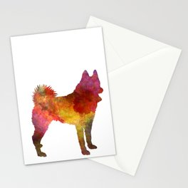 Russian European Laika in watercolor Stationery Cards