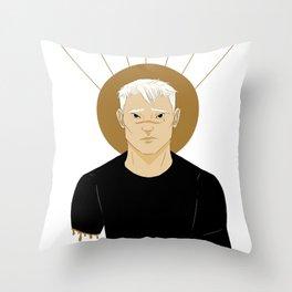 shiro | white Throw Pillow