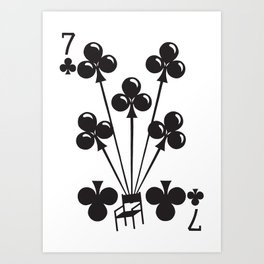 Curator Deck: The 7 of Clubs Art Print