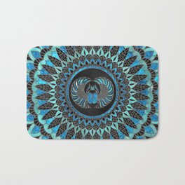 Egyptian Scarab Beetle - Gold and Blue glass Bath Mat