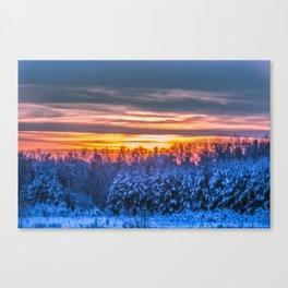 Magic winter sunset Canvas Print