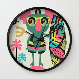Koala surfer Wall Clock