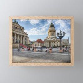 Berlin Gendarmenmarkt Color Framed Mini Art Print