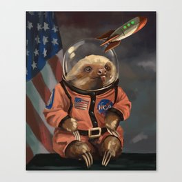 The Sloth Space Cadet Canvas Print
