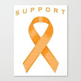 Orange Awareness Ribbon Canvas Print