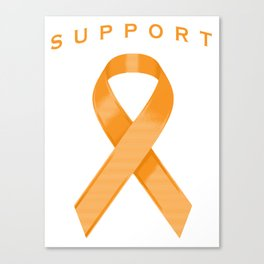 Orange Awareness Ribbon Canvas Print