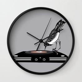 DJ magpie Wall Clock
