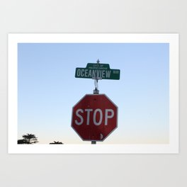 Oceanview Blvd Art Print