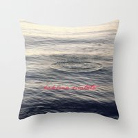 hakuna Throw Pillows featuring Hakuna Matata by Christine Hall