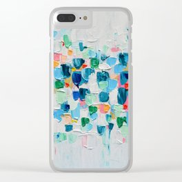 Tropical Confetti Clear iPhone Case