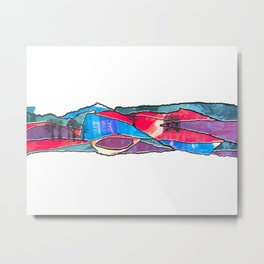 Multicolored Landscape Diptych Part 1 Metal Print