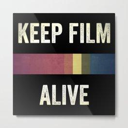 Keep Film Alive Metal Print