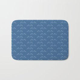 Blue Fish Pattern Bath Mat