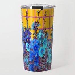 Blue Flower Garden  Western Style Design Travel Mug