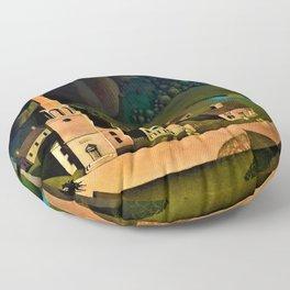 Grant DeVolson Wood - The Midnight Ride of Paul Revere - Digital Remastered Edition Floor Pillow