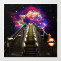 Stairway to Nowhere and Everywhere | London Tube Series Canvas Print
