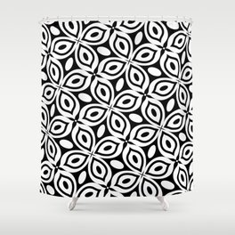 Black + White Mod Butterfly Shower Curtain