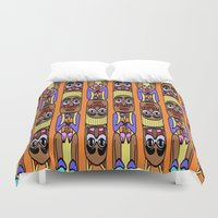 totem Duvet Covers featuring Totem by Veronica Ventress