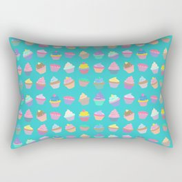 Cupcake sweet dream colourful factory pattern Rectangular Pillow