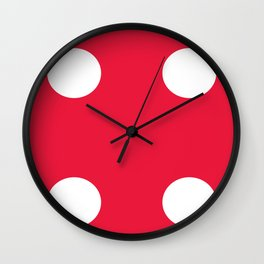 Red Dice 4 Wall Clock