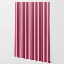 Raspberry Victorian Lady Stripe Wallpaper