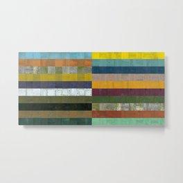 Wooden Abstract Vlll Metal Print