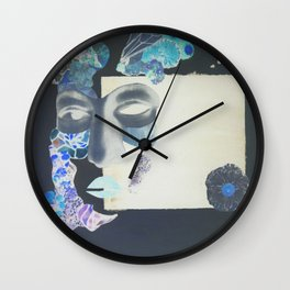 portrait: people have sides & sometimes we hide them Wall Clock
