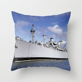 S.S. Jeremiah O'Brien Ship in South Portland, Maine Throw Pillow