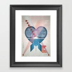 Broken Heart Is A Deadly Weapon Framed Art Print