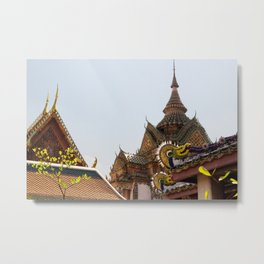 Thai Buddhist Temple Metal Print