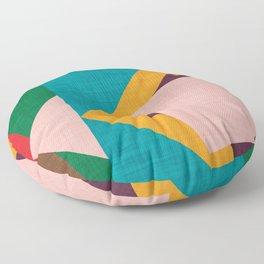 Kilim Flower grey Floor Pillow