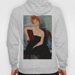 "Amedeo Modigliani ""Redheaded Girl in Evening Dress"" Hoody"