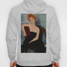 "Amedeo Modigliani ""Redheaded Girl in Evening Dress"" Hoody"