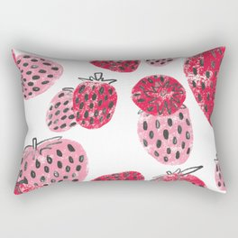 Sweet Pink and Red Textured Strawberries Rectangular Pillow