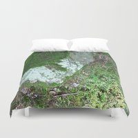 moss Duvet Covers featuring moss by L Step