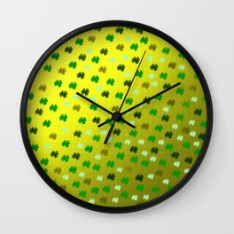 digitally painted colorful pattern Wall Clock